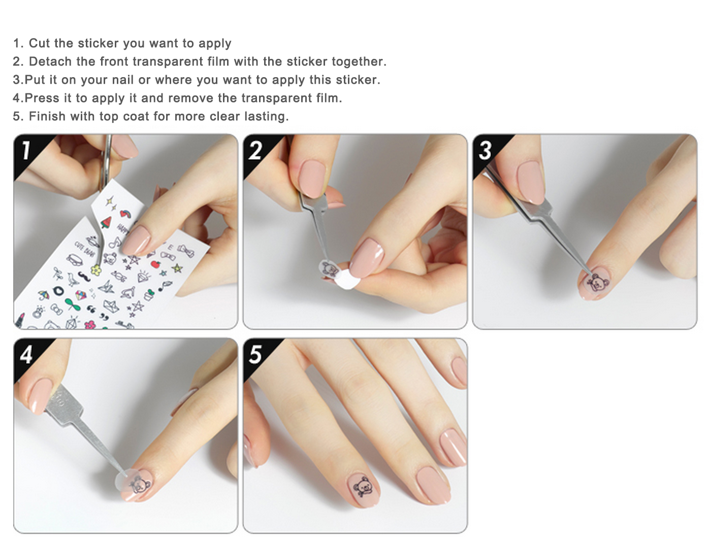 [Etude House] Play Nail Sticker Water Free Decal Sticker ...