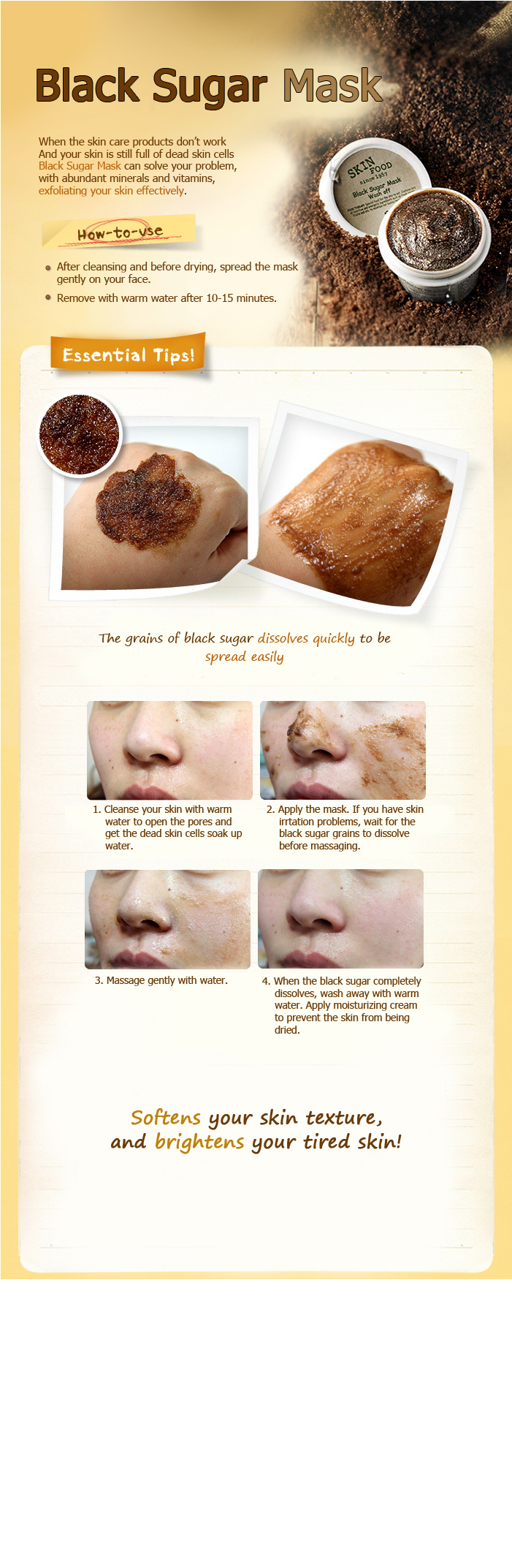 How to use skinfood black sugar mask