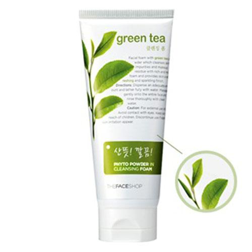 Green tea powder facial