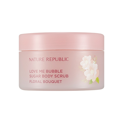 Nature Republic Love Me Bubble Sugar Body Scrub Floral Bouquet