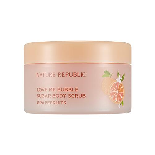 Nature Republic Love Me Bubble Sugar Body Scrub Grapefruits