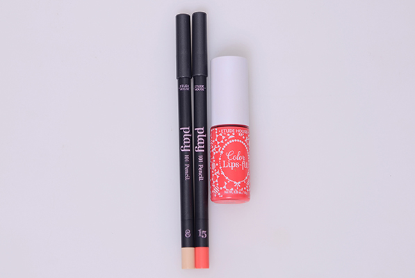 Etude house play 101 pencil #8 Etude house play 101 pencil #15 Etude house  Color lips-fit OR 201 Dream fit coral